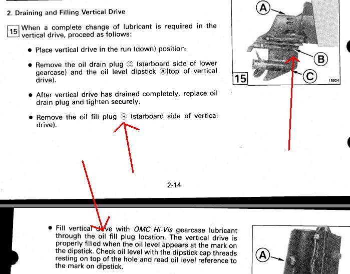 impeller location on 1994 omc 4 3 (fourwinds) Page: 1