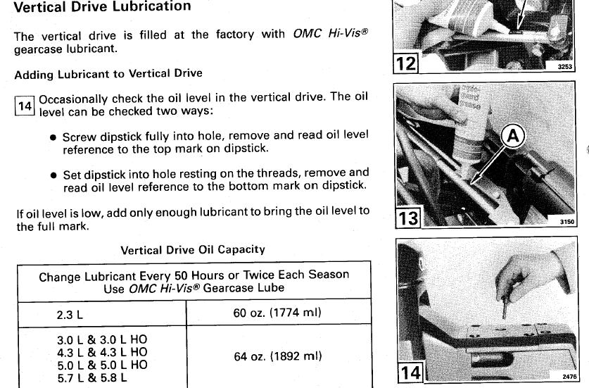 OMC Cobra 4 3L Outdrive Oil Questions Page 1 Iboats